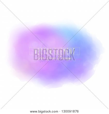 Vector watercolor spot. Watercolor background. Colorful abstract texture. Bright watercolor stain. Vector art banner. Purple and blue colors