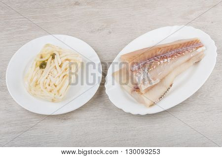 Alaska Pollock Fillets, Jelly With Squid