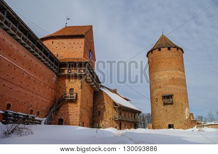 Turaida Castle is a recently reconstructed medieval castle in Turaida in the Vidzeme region of Latvia on the opposite bank of the Gauja River from Sigulda.
