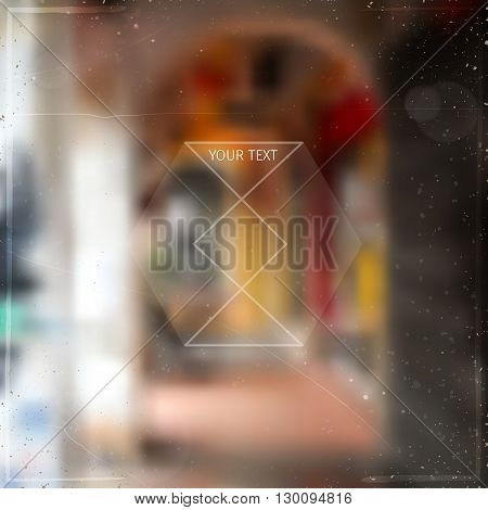 abstract blurred soft vector background with unrecognisable town street