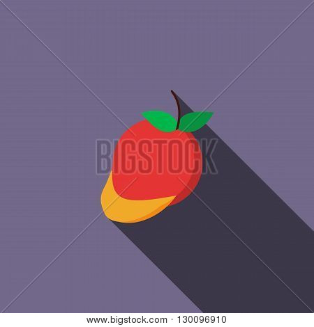 Mango icon in flat style with long shadow