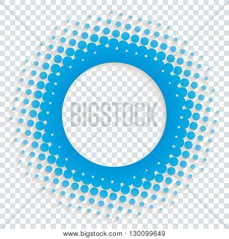Perforated halftone paper with copy-space on transparent background. Vector EPS10.