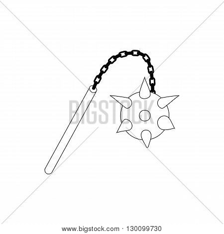 Medieval mace icon in isometric 3d style isolated on white background