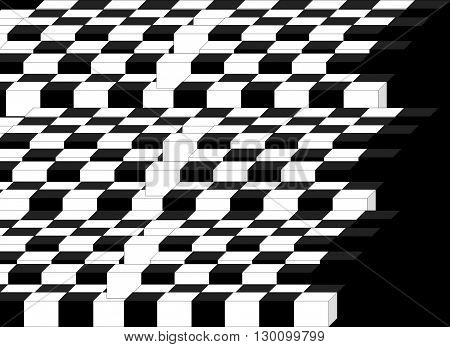 Black  and white  The painting depicts a chessboard as a way (black and white- gains and losses) to the top, to win.