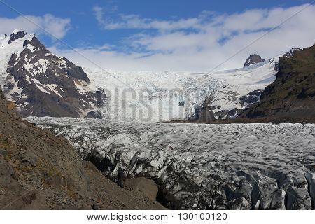 Svinafellsjokull Glacier in Skaftafell National Park. Iceland