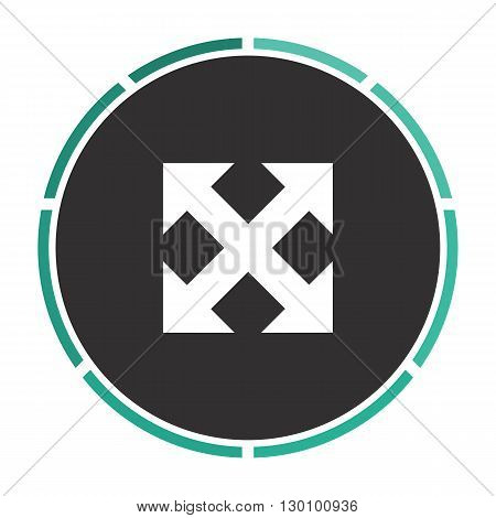 Enlarge Simple flat white vector pictogram on black circle. Illustration icon