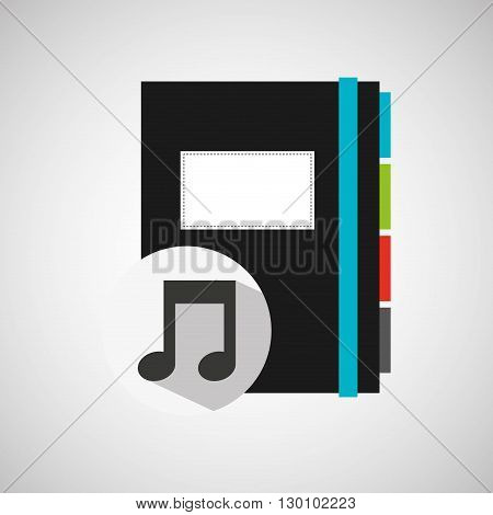musical directory design, vector illustration eps10 graphic