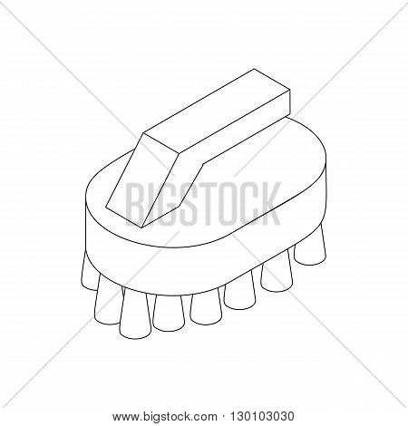 Cleaning brush icon in isometric 3d style isolated on white background. House work