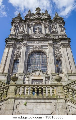 Facade Of The Igreja Dos Clerigos In Porto