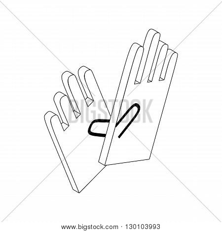 Gloves for cleaning icon in isometric 3d style isolated on white background