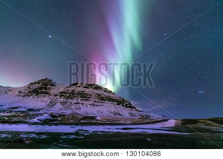 The Northern Lights Aurora borealis Iceland