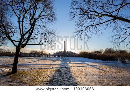 Vigeland park winter Oslo Norway