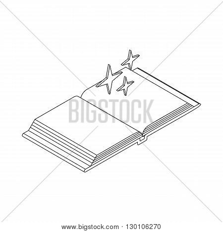 Magic book icon in isometric 3d style on a white background