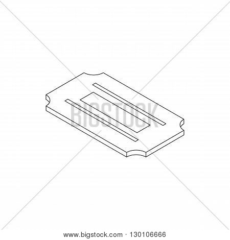 Razor blade icon in isometric 3d style on a white background