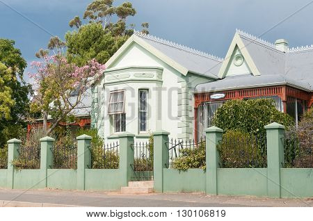 UNIONDALE SOUTH AFRICA - MARCH 5 2016: A private old-age home in a historic old building in Uniondale