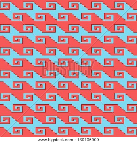 Seamless geometric pattern with. Can be used in textiles, for book design, website background.