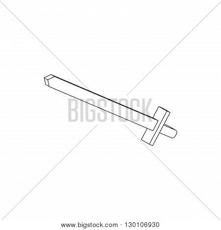 Toy sword icon in isometric 3d style isolated on white background