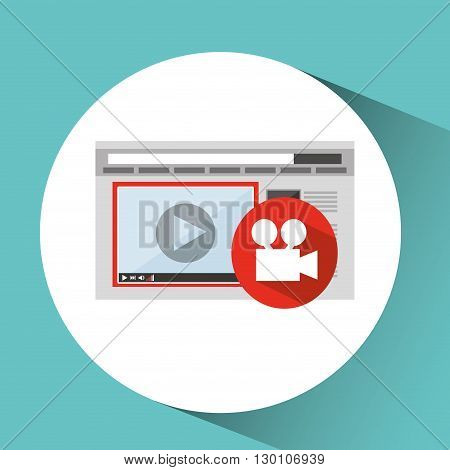 media player design, vector illustration eps10 graphic