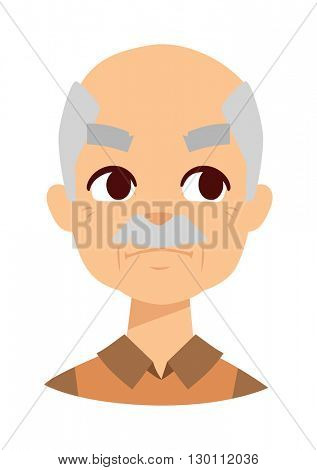 Envious man vector illustration.