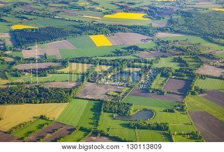 Aerial Of Rural Landscape  Near Bremen