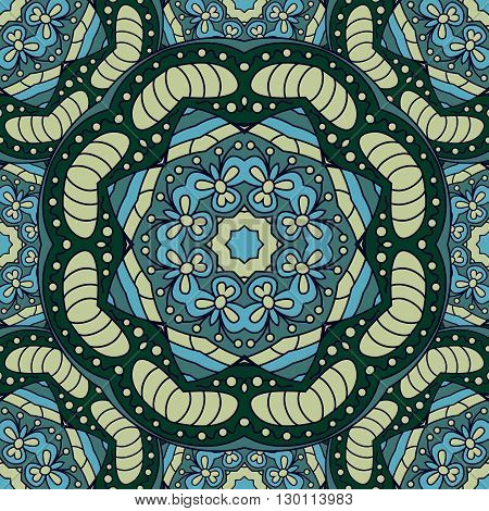 Seamless vector background with mandala. Islam Arabic Indian ottoman style. Background   textile. Design for silk neck scarf kerchief hanky pillow hanky pillow carpet rug
