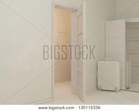 3D Visualization Of Interior Design Living In A Studio Apartment