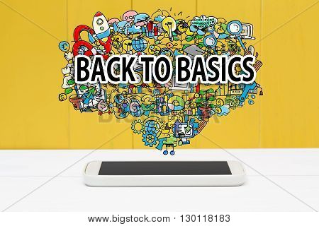 Back To Basics Concept With Smartphone