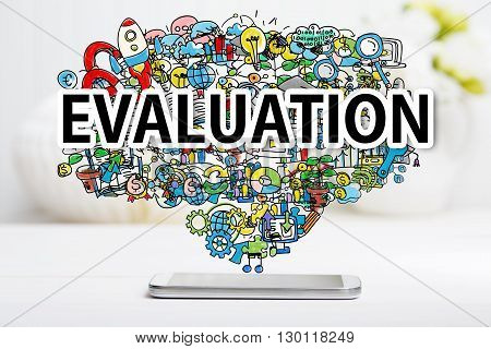 Evaluation Concept With Smartphone