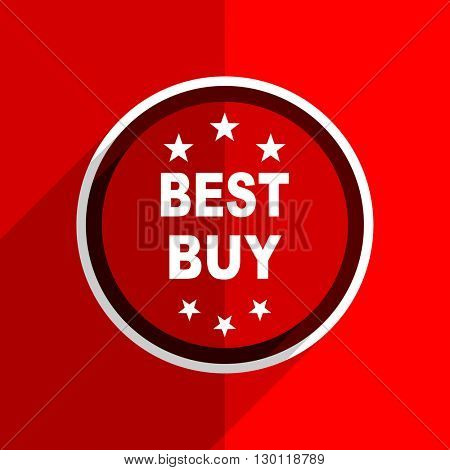 red flat design best buy web modern icon