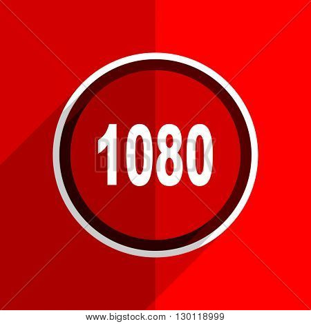 red flat design 1080 web modern icon