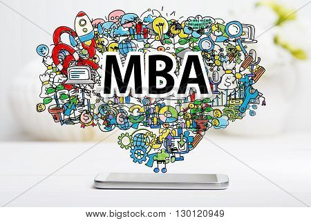 Mba Concept With Smartphone