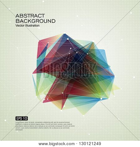 Point line surface composition of abstract graphics Vector background.