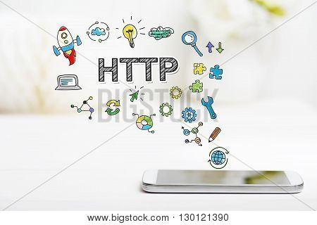 Http Concept With Smartphone