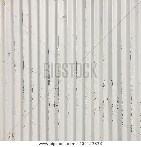 White metal fence