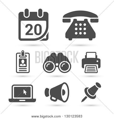 Business finance icons isolated on white set 6. Vector illustration