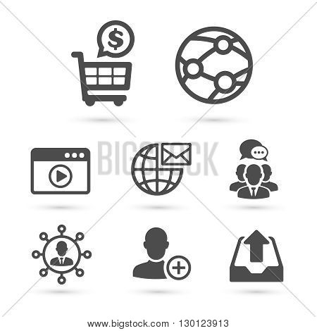 SEO and Advertising icons pack.  Vector illustration