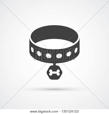 Dog collar flat trendy icon. Vector illustration