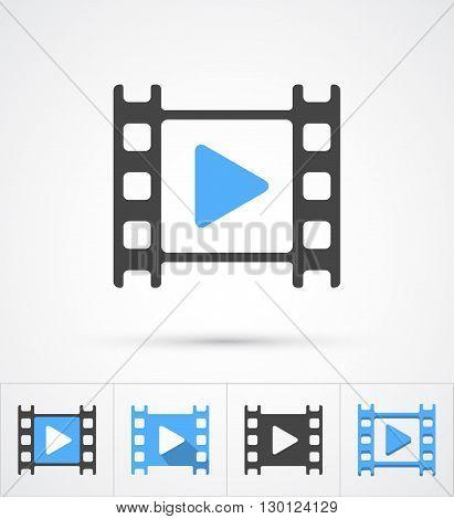Film play trendy multi styles icon. Vector illustration