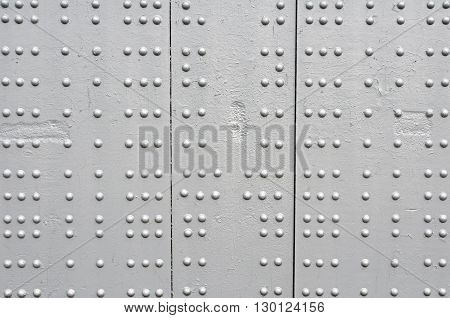 rivets on grey bridge, pattern background abstract