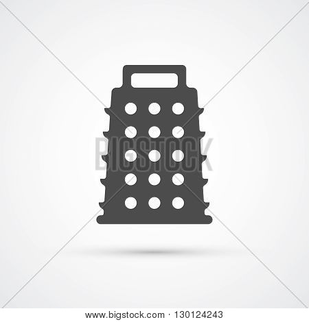 Grater trendy flat black icon. Vector illustration