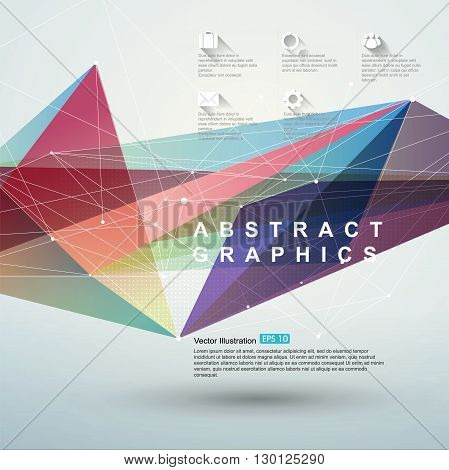 Point line surface composition of abstract graphics infographicsVector illustration.