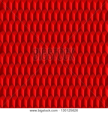 Abstract geometric background with rhombs in red