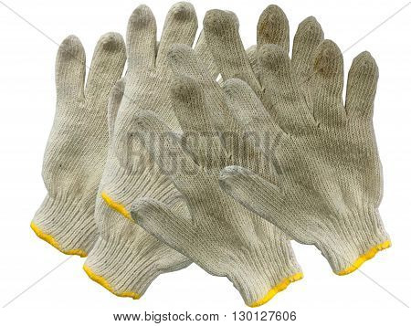 glove on the white background, Dirty glove