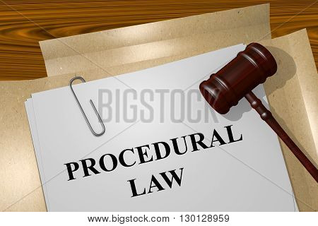 Procedural Law Legal Concept