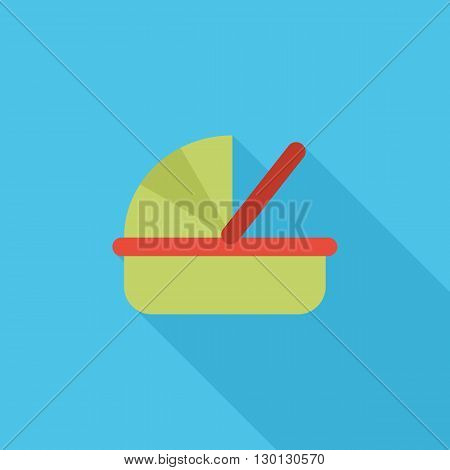 Cradle icon. Flat vector related icon for web and mobile applications. It can be used as - logo, pictogram, icon, infographic element. Vector Illustration.