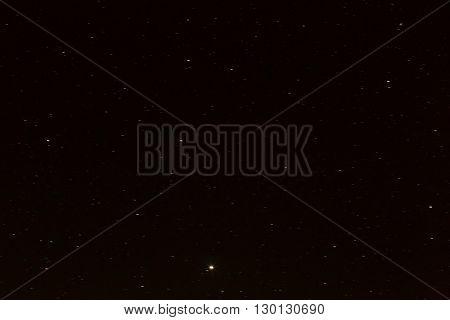 Beautiful Night Sky With Stars, Long Exposure