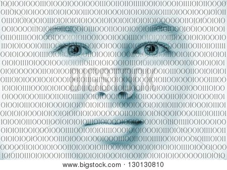 Binary computer face