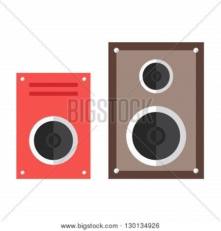 Subwoofer web icon. Speaker. Music devices. Flat design illustration