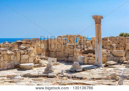 Limassol District. Cyprus. Ruins of Greek ancient Kourion