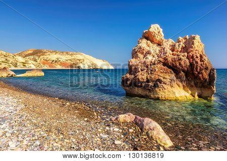 Aphrodite birthplace beach.Petra tou Romiou,  Paphos. Cyprus.